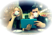 couple-with-ipad-drinking-coff