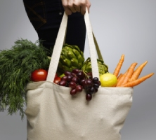 vegetables in carry-bag